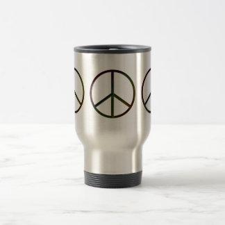 Leather-Look Peace Colour Dark 15 Oz Stainless Steel Travel Mug