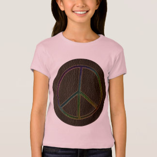 Leather-Look Peace Colour Dark T-Shirt