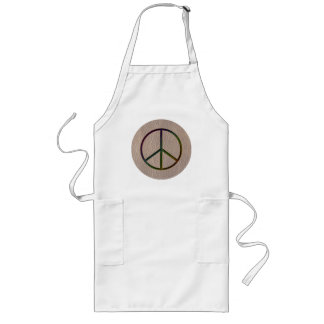 Leather-Look Peace Colour Soft Long Apron