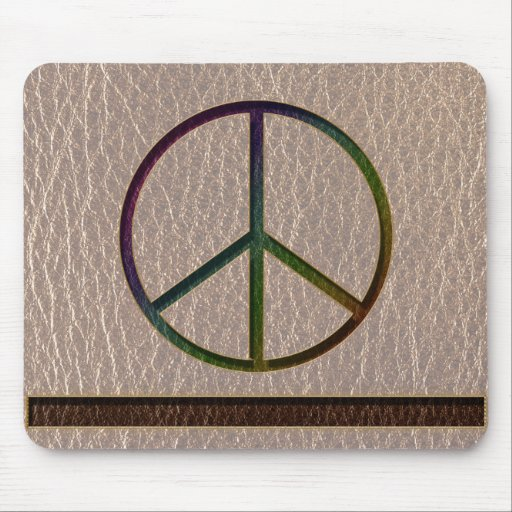 Leather-Look Peace Colour Soft Mouse Pad