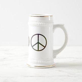 Leather-Look Peace Colour Soft Coffee Mugs