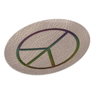 Leather-Look Peace Colour Soft Plate