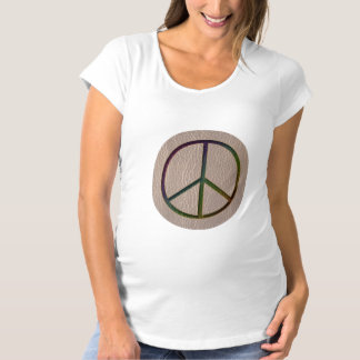 Leather-Look Peace Colour Soft Tee Shirt