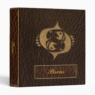 Leather-Look Pisces 3 Ring Binder