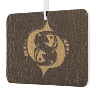 Leather-Look Pisces Air Freshener