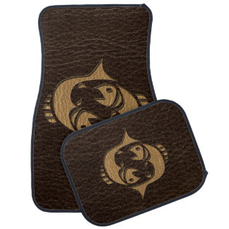 Leather-Look Pisces Car Mat