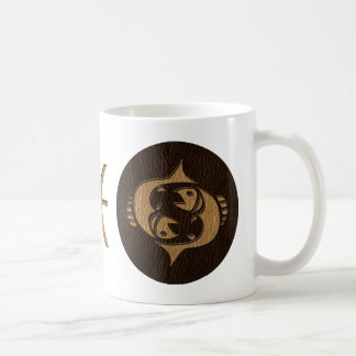 Leather-Look Pisces Coffee Mug