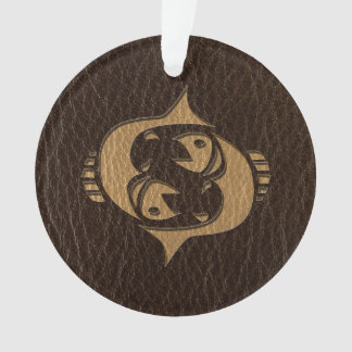 Leather-Look Pisces Ornament