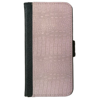 Leather Look Purple iPhone 6/6s Wallet Case
