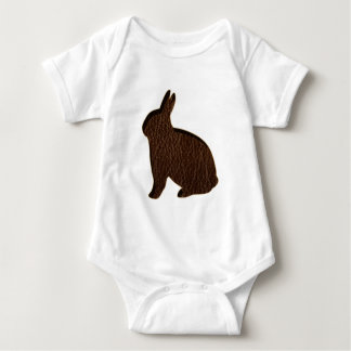 Leather-Look Rabbit Baby Bodysuit