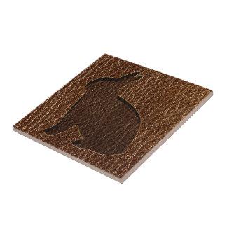 Leather-Look Rabbit Ceramic Tile