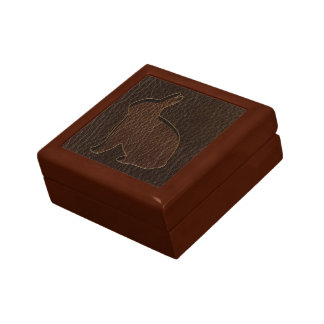 Leather-Look Rabbit Dark Keepsake Box