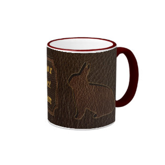 Leather-Look Rabbit Dark Coffee Mugs