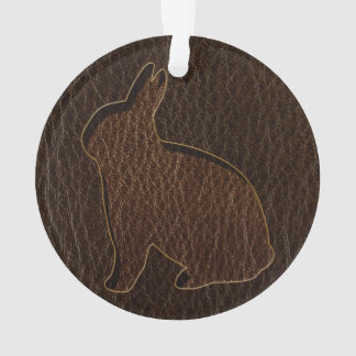Leather-Look Rabbit Dark Ornament