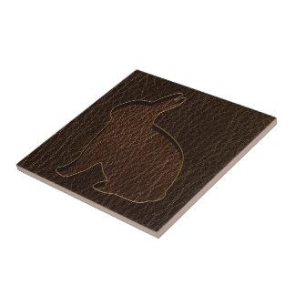 Leather-Look Rabbit Dark Tile