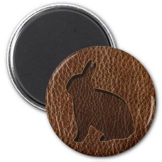 Leather-Look Rabbit Magnet