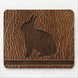 Leather-Look Rabbit Mouse Pad