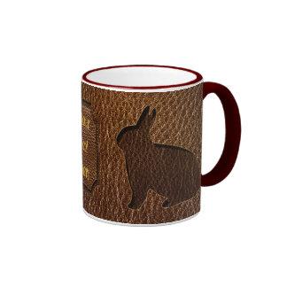 Leather-Look Rabbit Coffee Mug