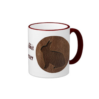 Leather-Look Rabbit Coffee Mugs