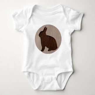 Leather-Look Rabbit Soft Baby Bodysuit