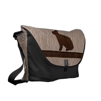 Leather-Look Rabbit Soft Courier Bag