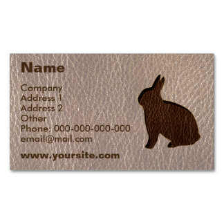 Leather-Look Rabbit Soft Magnetic Business Card