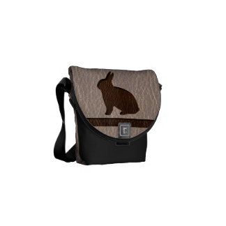 Leather-Look Rabbit Soft Messenger Bags