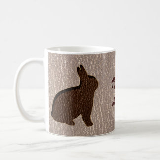 Leather-Look Rabbit Soft Mugs