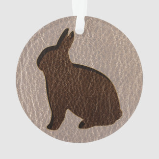 Leather-Look Rabbit Soft Ornament