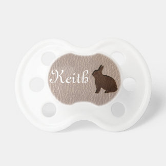 Leather-Look Rabbit Soft Pacifier
