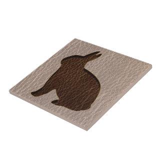 Leather-Look Rabbit Soft Tile
