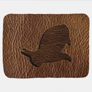 Leather-Look Rabbit Swaddle Blanket