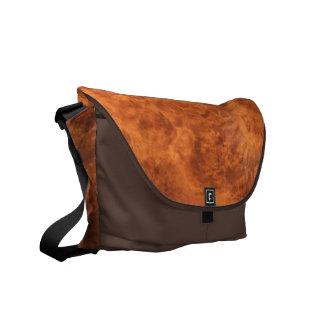 Leather Look Rickshaw Messenger Bag