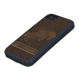 Leather-Look Rodeo Dark iPhone 5 Covers