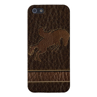 Leather-Look Rodeo Dark Case For iPhone SE/5/5s