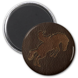 Leather-Look Rodeo Dark Magnet