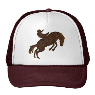 Leather-Look Rodeo Hats