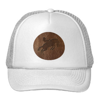 Leather-Look Rodeo Hat