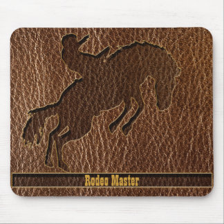 Leather-Look Rodeo Mouse Pad