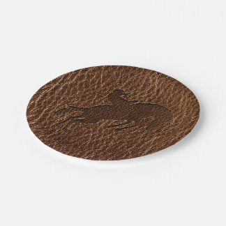 Leather-Look Rodeo Paper Plate
