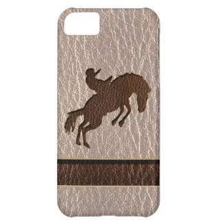 Leather-Look Rodeo Soft Case For iPhone 5C