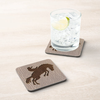Leather-Look Rodeo Soft Coaster