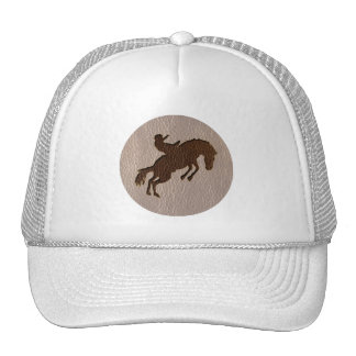 Leather-Look Rodeo Soft Mesh Hat