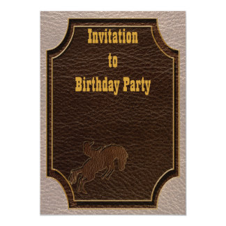"""Leather-Look Rodeo Soft 5"""" X 7"""" Invitation Card"""