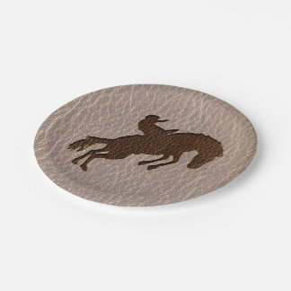 Leather-Look Rodeo Soft Paper Plate