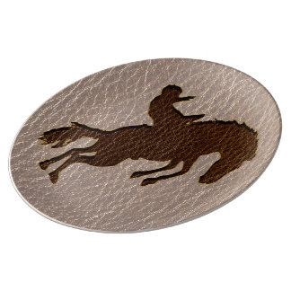 Leather-Look Rodeo Soft Porcelain Plate