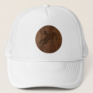 Leather-Look Rodeo Trucker Hat