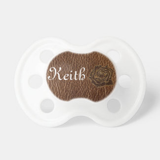 Leather-Look Rose Pacifier