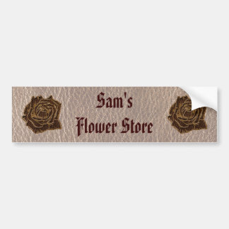 Leather-Look Rose Soft Bumper Sticker