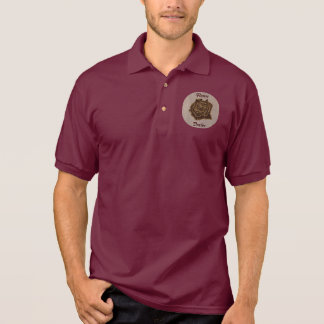 Leather-Look Rose Soft Polo Shirt